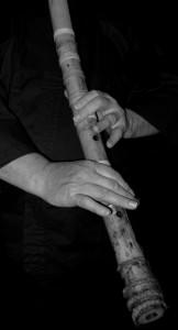 Shakuhachi  gespielt bei einem Konzert des Drachengesanges